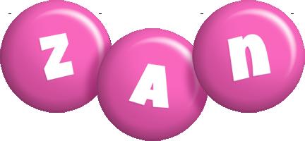 Zan candy-pink logo