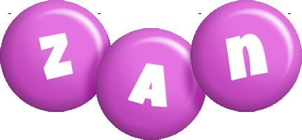Zan candy-purple logo