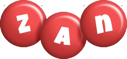 Zan candy-red logo
