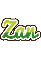 Zan golfing logo