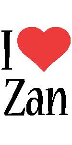 Zan i-love logo