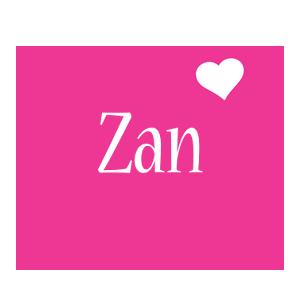 Zan love-heart logo