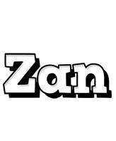 Zan snowing logo