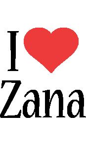 Zana i-love logo