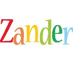 Zander birthday logo