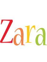 Zara birthday logo