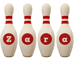 Zara bowling-pin logo