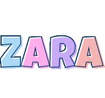 Zara pastel logo