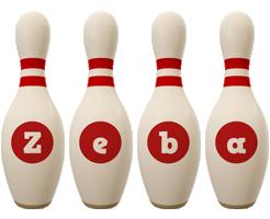 Zeba bowling-pin logo