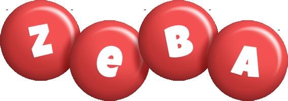 Zeba candy-red logo