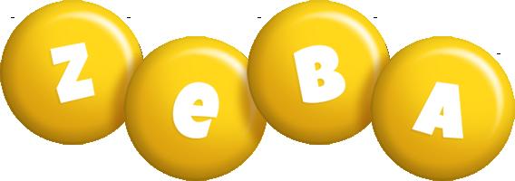 Zeba candy-yellow logo