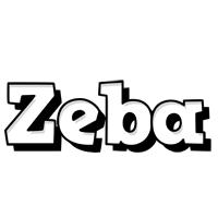 Zeba snowing logo