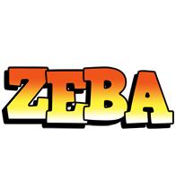 Zeba sunset logo