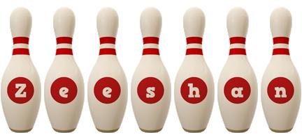 Zeeshan bowling-pin logo