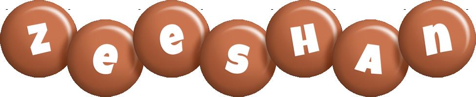 Zeeshan candy-brown logo