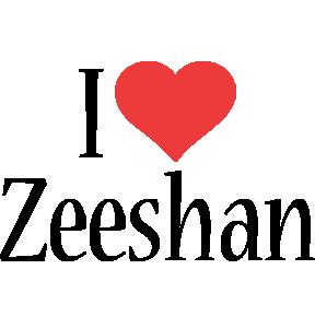 Zeeshan i-love logo