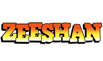 Zeeshan sunset logo