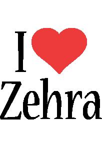 Zehra i-love logo
