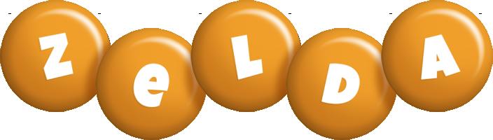 Zelda candy-orange logo