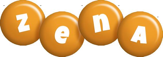 Zena candy-orange logo