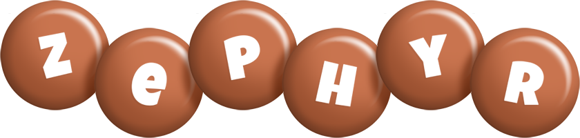 Zephyr candy-brown logo