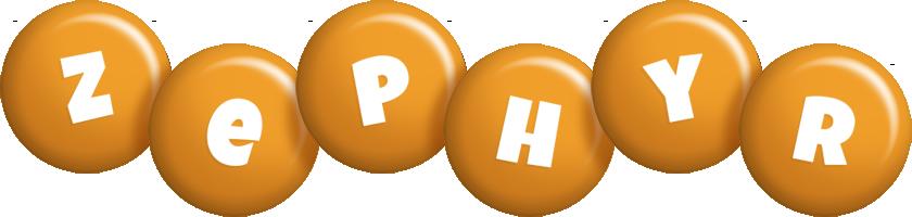 Zephyr candy-orange logo