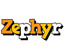 Zephyr cartoon logo