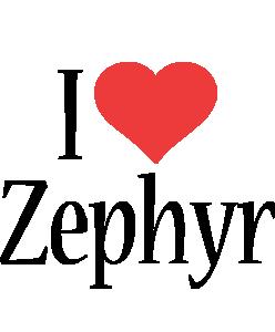 Zephyr i-love logo