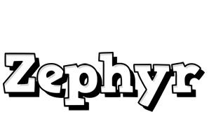 Zephyr snowing logo
