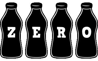 Zero bottle logo