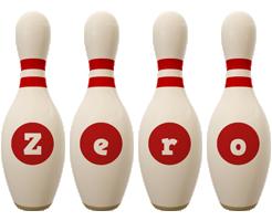 Zero bowling-pin logo