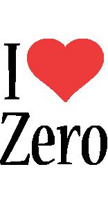 Zero i-love logo
