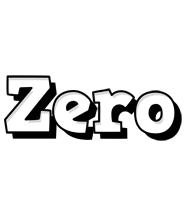 Zero snowing logo