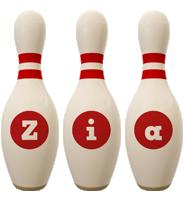 Zia bowling-pin logo