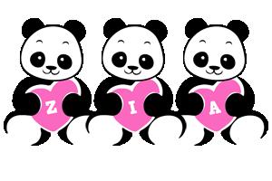 Zia love-panda logo