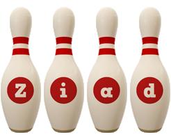 Ziad bowling-pin logo
