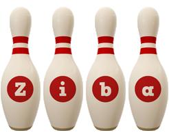 Ziba bowling-pin logo