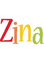 Zina birthday logo