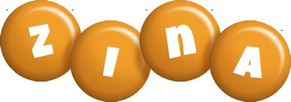 Zina candy-orange logo