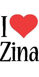 Zina i-love logo