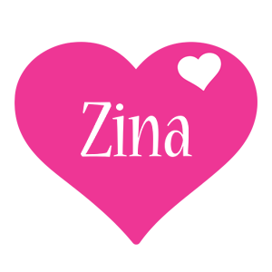 Zina love-heart logo