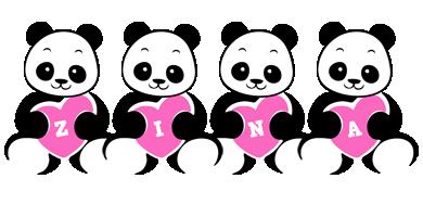 Zina love-panda logo