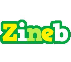 Zineb soccer logo