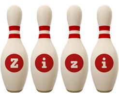 Zizi bowling-pin logo