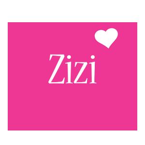 Zizi love-heart logo
