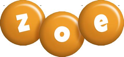 Zoe candy-orange logo