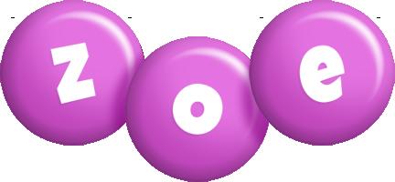 Zoe candy-purple logo