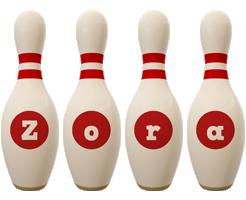 Zora bowling-pin logo