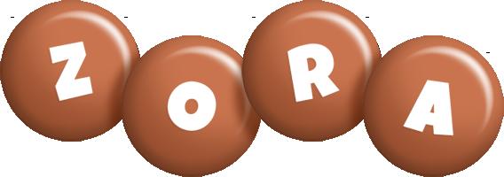 Zora candy-brown logo