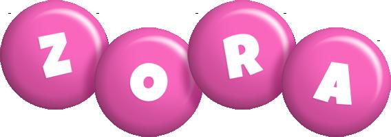 Zora candy-pink logo
